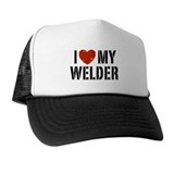 I Love My Welder Trucker Hat