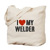 I Love My Welder Tote Bag