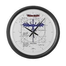 Unique A. d. d Large Wall Clock