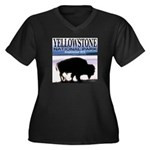 Bison Yellowstone National Pa Women's Plus Size V-