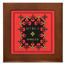 Wiccan Saying Floral Framed Tile