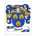 Clement Family Crest Small Poster