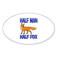 Half Man Half Fox Oval Decal