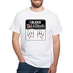 Bleed Red & Black White T-Shirt