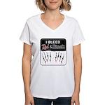 Bleed Red & Black Women's V-Neck T-Shirt