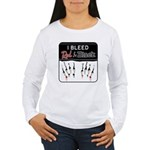 Bleed Red & Black Women's Long Sleeve T-Shirt
