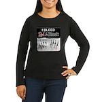 Bleed Red & Black Women's Long Sleeve Dark T-Shirt