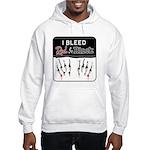 Bleed Red & Black Hooded Sweatshirt