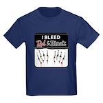 Bleed Red & Black Kids Dark T-Shirt
