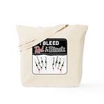 Bleed Red & Black Tote Bag