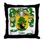 Colas Family Crest Throw Pillow