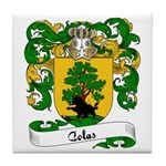 Colas Family Crest Tile Coaster