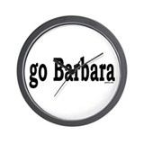go Barbara Wall Clock