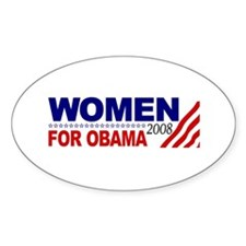 Women for Obama 2008 Oval Decal