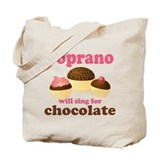 Chocolate Soprano Tote Bag