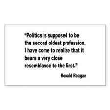 Reagan Politics Quote Rectangle Decal