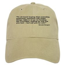 Reagan Crocodile Quote Baseball Cap