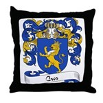 Cros Family Crest Throw Pillow