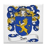 Cros Family Crest Tile Coaster