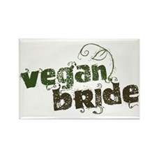 Vegan Bride Rectangle Magnet