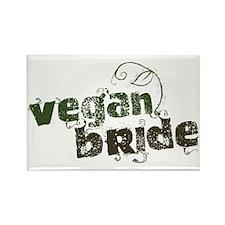 Vegan Bride Rectangle Magnet (100 pack)