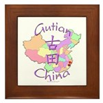 Gutian China Map Framed Tile