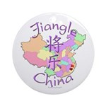 Jiangle China Map Ornament (Round)