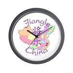 Jiangle China Map Wall Clock