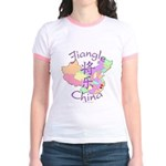 Jiangle China Map Jr. Ringer T-Shirt