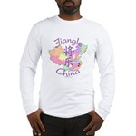 Jiangle China Map Long Sleeve T-Shirt