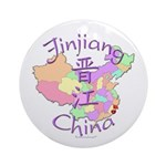 Jinjiang China Map Ornament (Round)