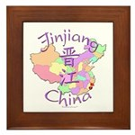 Jinjiang China Map Framed Tile