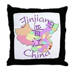 Jinjiang China Map Throw Pillow