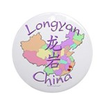 Longyan China Map Ornament (Round)