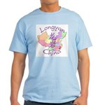 Longyan China Map Light T-Shirt