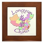 Longyan China Map Framed Tile