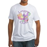 Longyan China Map Fitted T-Shirt
