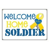 "Welcome Home Soldier ""My Hero Banner"