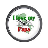 I Love My Italian Papa Wall Clock