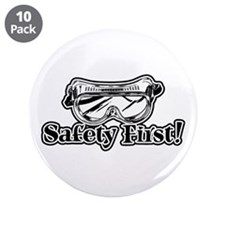 "Safety First 3.5"" Button (10 pack)"