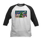 Xmas Magic & Whippet Kids Baseball Jersey