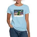 Xmas Magic & Whippet Women's Light T-Shirt