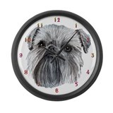 Brussels Griffon Large Wall Clock