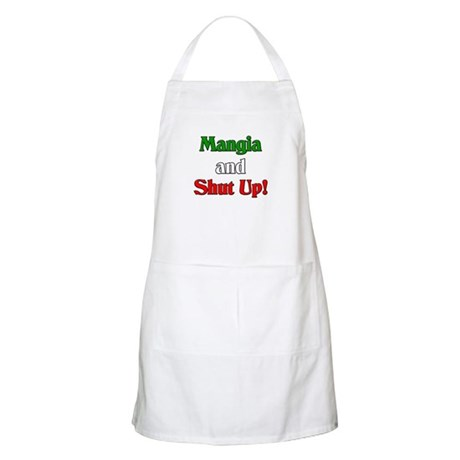 Mangia and Shut Up! BBQ Apron