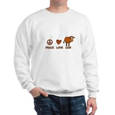 peace love cow Sweatshirt