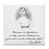 Jane Austen Attitude Tile Coaster