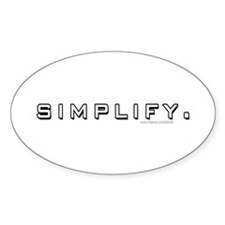 Simplify... Oval Sticker (10 pk)