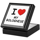 I love MY BOLOGNESE Keepsake Box