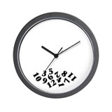 'Fallen Numbers' Wall Clock