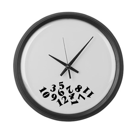 39 Fallen Numbers 39 Large Wall Clock By Applepip